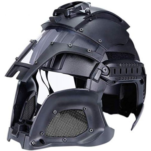 Hunting Explorer Airsoft Helmet 6 Hunting Explorer Tactical Military Ballistic Helmet Side Rail NVG Shroud Transfer Base Sports Army Combat Airsoft Paintball Full Face Mask Helmet Protective Gear