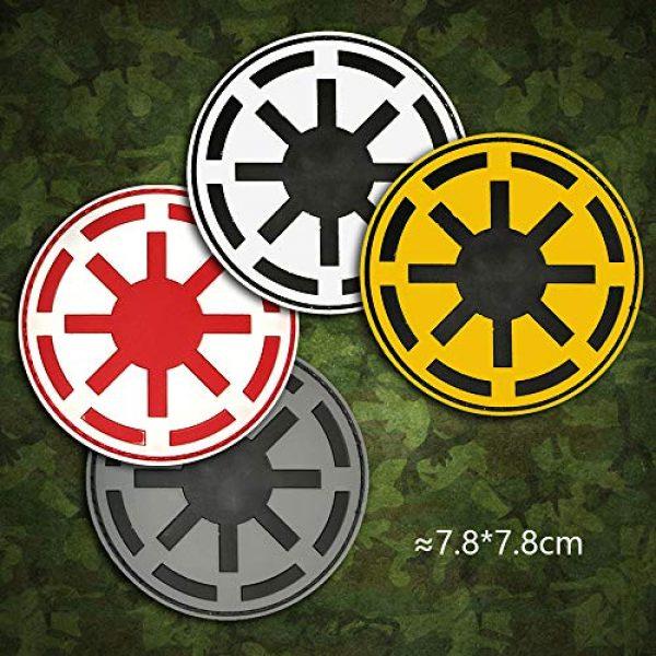 Morton Home Airsoft Patch 4 Morton Home Republic Galactic Empire Logo Army GITD Tactical Morale Airsoft 3D PVC Rubber Patch(Black)
