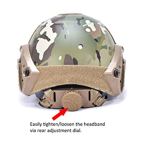 Fast MICH Ballistic Helmet for Airsoft Paintball Hunting Shooting Outdoor Sports