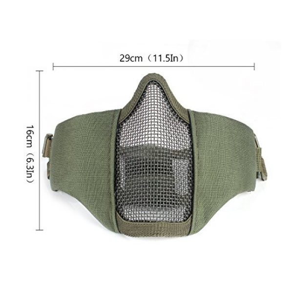 Unigear Airsoft Mask 3 Unigear Half Face Lower Mask Foldable Mesh Adjustable Tactical Metal Steel Mask for Airsoft/Hunting/Paintball/Shooting