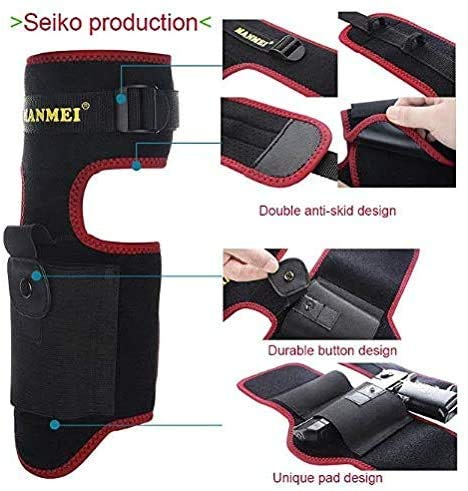 MANMEI  2 MANMEI Ankle Holster for Concealed Carry Pistol with Pocket