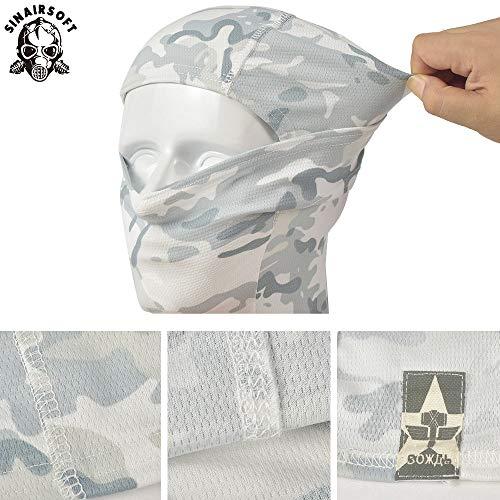 SINAIRSOFT Airsoft Mask 5 SINAIRSOFT Tactical Airsoft Full Face Mask Balaclava Hood Headwear Motorcycle Hunting CS