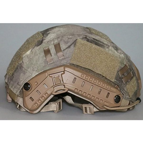OSdream Airsoft Helmet 4 OSdream Tactical Military Helmet Covers Camouflage Cover Airsoft Paintball Shooting Helmet Accessory Only A Cover and US Flag Patch Without Helmet