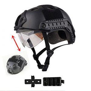 iMeshbean Airsoft Helmet 1 iMeshbean Airsoft Swat Helmet Combat Fast Helmet with Protective Goggles