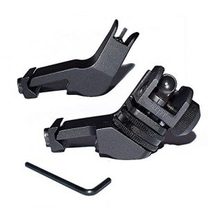 GOTICAL Airsoft Gun Sight 1 GOTICAL 45 Degree Front and Rear Rapid Transition Backup Sights - Picatinny Rail 20mm - Made by PPS Material for Pistol Handgun