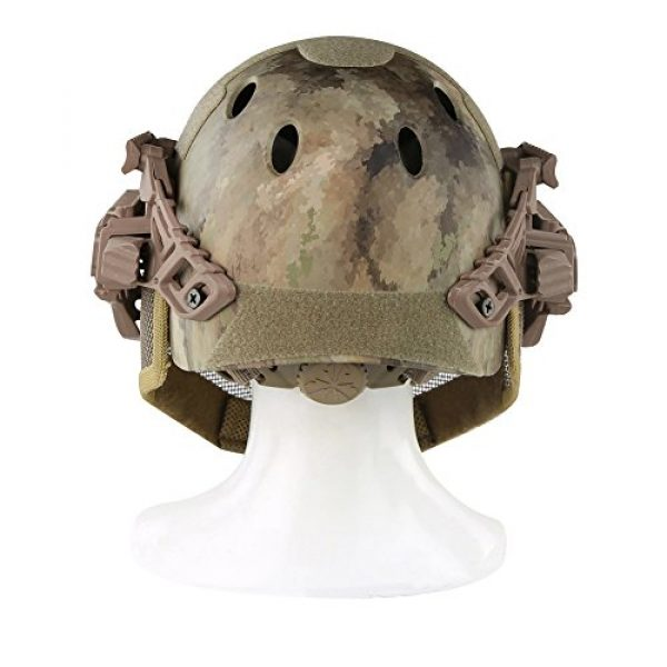 ActionUnion Airsoft Helmet 4 ActionUnion PJ Fast Tactical Helmet Airsoft Full Face Mask with Goggles Molle Mesh Breathable Eye Protection for Military CS Paintball Shooting Hunting Cycling Motorcycle Outdoor Sport-at