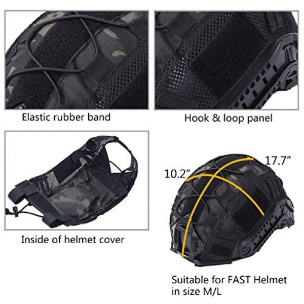 IDOGEAR Airsoft Helmet 5 IDOGEAR Tactical Helmet Cover Camouflage Cover for Fast Helmet in Size M/L Airsoft Paintball Hunting Shooting Gear 500D Nylon