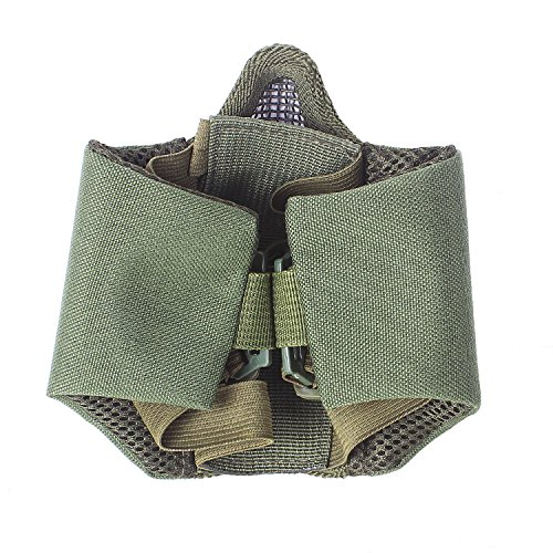 Unigear Airsoft Mask 6 Unigear Half Face Lower Mask Foldable Mesh Adjustable Tactical Metal Steel Mask for Airsoft/Hunting/Paintball/Shooting