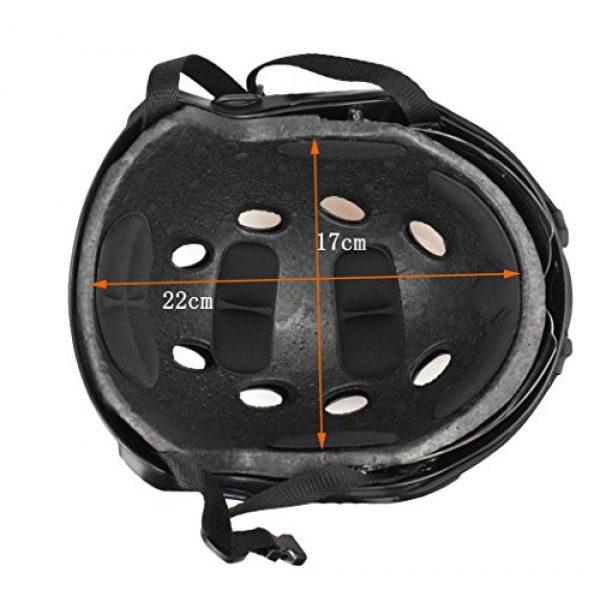 JFFCESTORE Airsoft Helmet 6 JFFCESTORE PJ Type Tactical Multifunctional Fast Helmet and Foldable Adjustable Half Mesh Mask