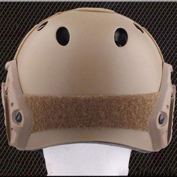 ATAIRSOFT Airsoft Helmet 4 ATAIRSOFT PJ Type Tactical Multifunctional Fast Helmet with Visor Goggles Version DE