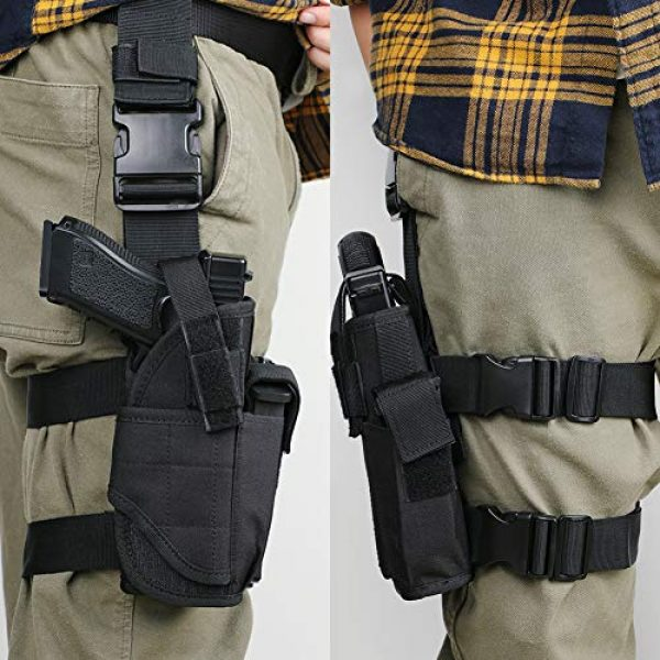 XAegis  3 XAegis Drop Leg Holster for Pistols Tactical Thigh Rig Gun Holster with Magazine Pouch Adjustable Right Handed