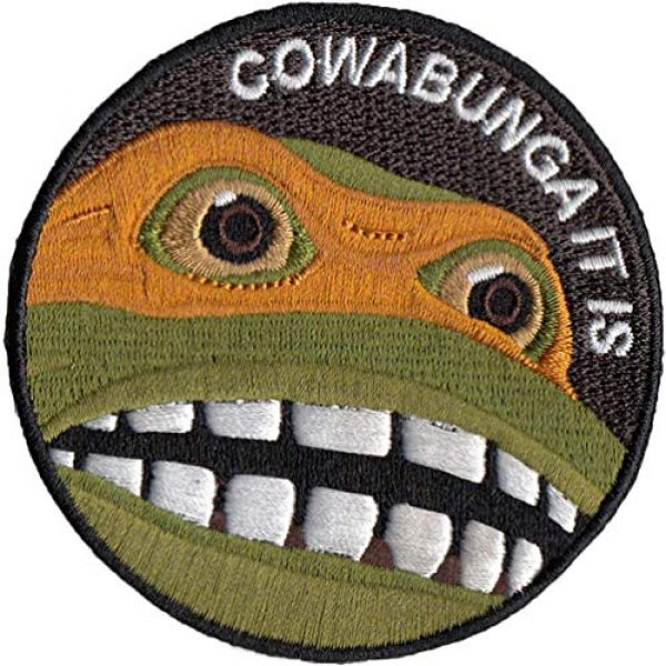 Bitway Tactical Airsoft Patch 1 Bitway Tactical Cowabunga It is Embroidered Hook-Backed Morale Patch