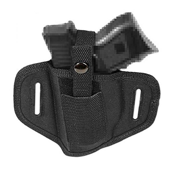 FIRECLUB  4 FIRECLUB Tactical Molle 6 Position Ambidextrous Concealment Holster for Compact Subcompact Waist Handguns Concealed Belt Holster for Right Left Hand Draw Black