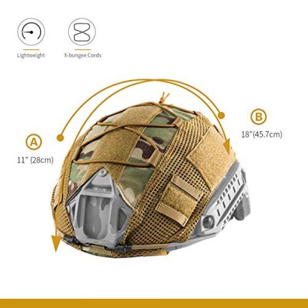 OneTigris Airsoft Helmet 2 OneTigris Multicam Helmet Cover - No Helmet (ZKB06 for Ballistic Fast Helmet in Size L & Fast PJ Helmet in Size L/XL - Multicam)