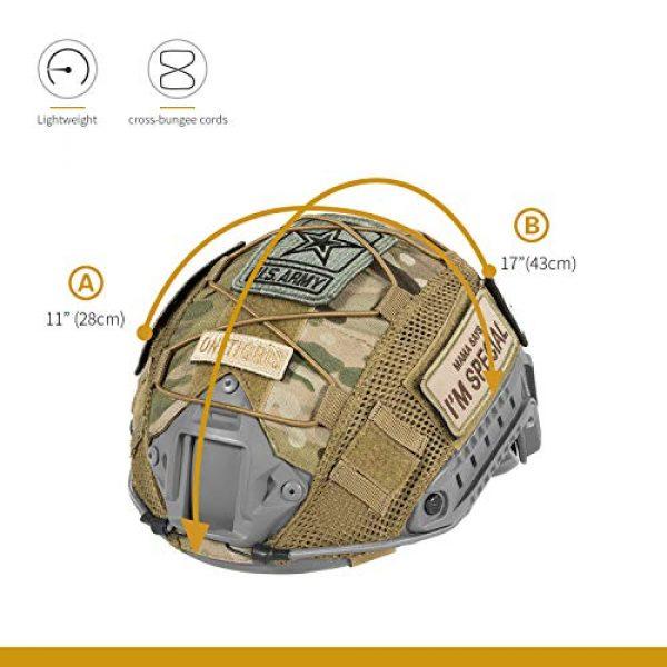 OneTigris Airsoft Helmet 4 OneTigris Multicam Helmet Cover - No Helmet
