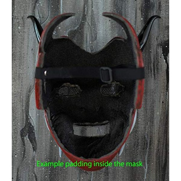 tripple_777 Airsoft Mask 5 tripple_777 Samurai Assassin Demon Oni Airsoft Mask BB Gun Halloween Costume Ninja Warrior Evil Cosplay red DA01