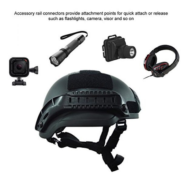 OneTigris Airsoft Helmet 4 OneTigris MICH 2002 Action Version Tactical Helmet ABS Helmet for Airsoft Paintball