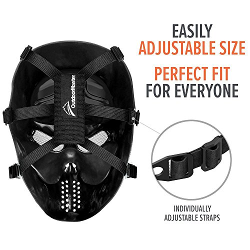 OutdoorMaster Airsoft Mask 6 OutdoorMaster Full Face Airsoft Mask with Metal Mesh Eye Protection