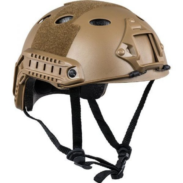 iMeshbean Airsoft Helmet 1 iMeshbean Airsoft SWAT Tactical Helmet Combat Fast PJ Helmet (23-Sand)