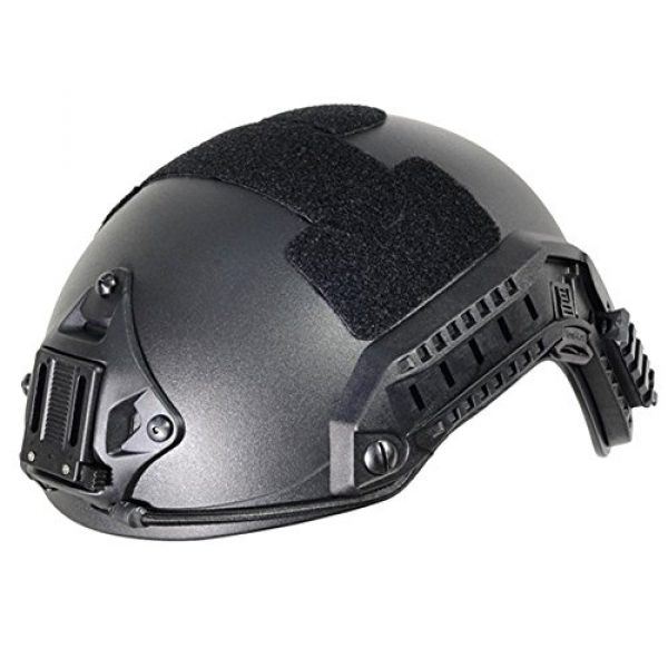 Optional life Airsoft Helmet 7 Optional life Black Free Size Tactical ABS Airsoft CS Paintball Security Helmet