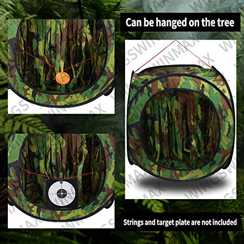 wingswinmax Airsoft Target 6 wingswinmax Foldable Airsoft Target Tent Trap Slingshot BB Trap Net Auto Pop-up Shooting Target Tent BB Target Holder Case