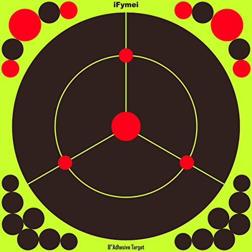 iFymei Airsoft Target 1 iFymei Shooting Targets Splatter Targets for Shooting Self Adhesive Reactive Paper Targets - 8 inch 100 & 50 & 20 Pack Great for Gun Rifle Pistol Bb Gun Airsoft Pellet Gun Air Rifle