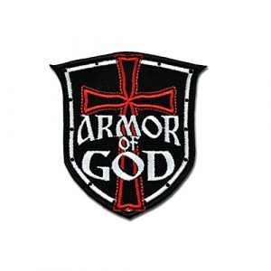 BASTION Airsoft Patch 1 BASTION Morale Patches (Armor of God) | 3D Embroidered Patches with Hook & Loop Fastener Backing | Well-Made Clean Stitching | Military Patches Ideal for Tactical Bag