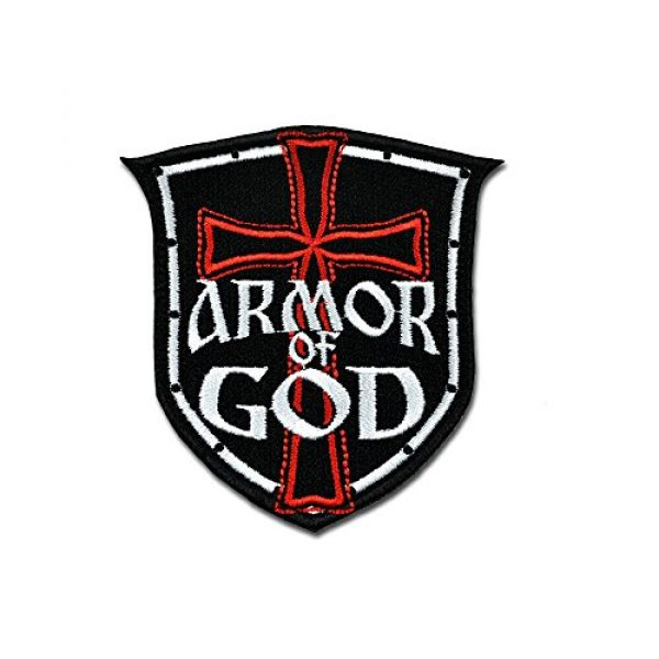 BASTION Airsoft Morale Patch 1 BASTION Morale Patches (Armor of God)   3D Embroidered Patches with Hook & Loop Fastener Backing   Well-Made Clean Stitching   Military Patches Ideal for Tactical Bag, Hats & Vest