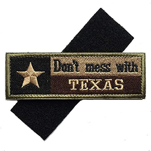 Homiego Airsoft Patch 6 Homiego Texas State Flag Military Tactical Morale Desert Badge Hook & Loop Embroidery Patch for Hat Backpack Jacket (Texas State Flag - B)