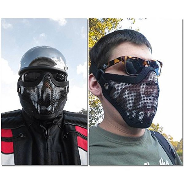 Outgeek Airsoft Mask 4 Outgeek Airsoft Half Face Mask Steel Mesh and Goggles Set