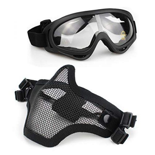 Aoutacc Airsoft Mask 1 Aoutacc Airsoft Mask and Goggles Set