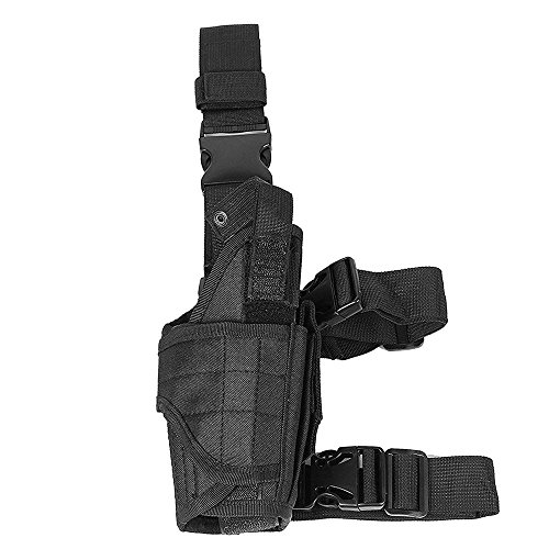 LIVEBOX  7 LIVEBOX Military Tactical Drop Leg Thigh Gun Holster Bag Adjustable Right Leg Handgun Holster Pouch for Airsoft Paintball Hunting Gun Training