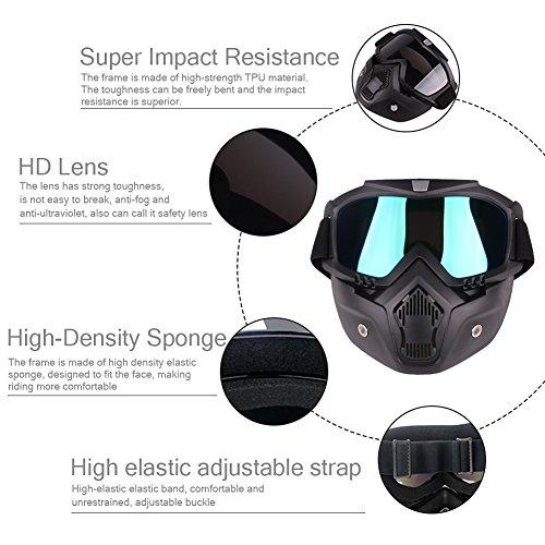 Cool Helmet Glasses Windproof