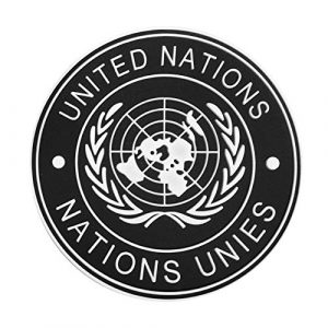 Morton Home Airsoft Patch 1 Morton Home UN United Nations U.N. Badge PVC Tactical Army Airsoft Patch (Black)