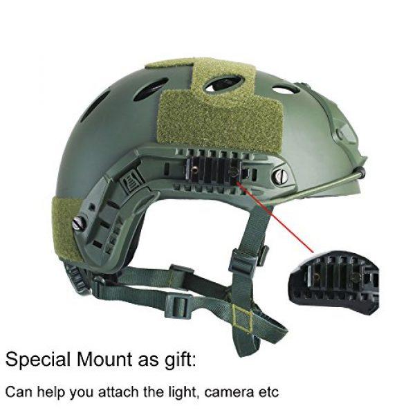 iMeshbean Airsoft Helmet 5 iMeshbean PJ Type Tactical Multifunctional Fast Helmet with Visor Goggles Version Black (Black)