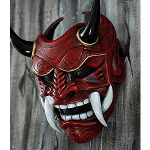 tripple_777 Airsoft Mask 1 tripple_777 Samurai Assassin Demon Oni Airsoft Mask BB Gun Halloween Costume Ninja Warrior Evil Cosplay red DA01