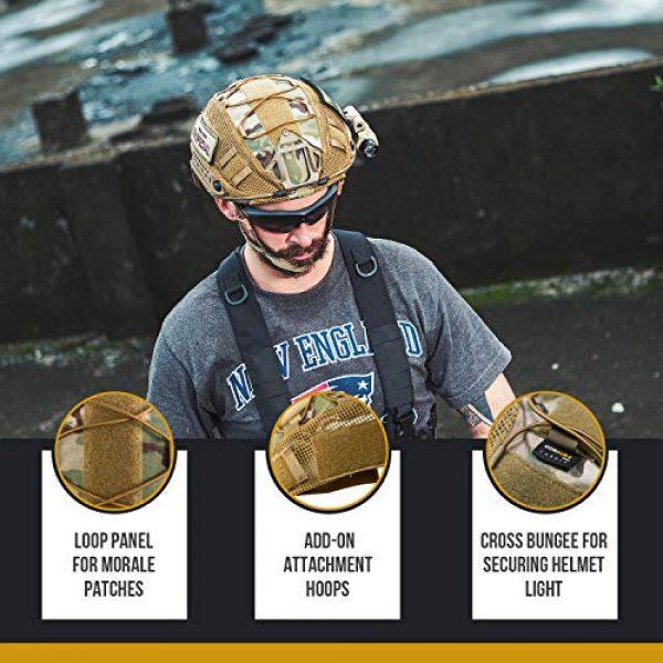 OneTigris Airsoft Helmet 5 OneTigris Multicam Helmet Cover - No Helmet (ZKB06 for Ballistic Fast Helmet in Size L & Fast PJ Helmet in Size L/XL - Multicam)