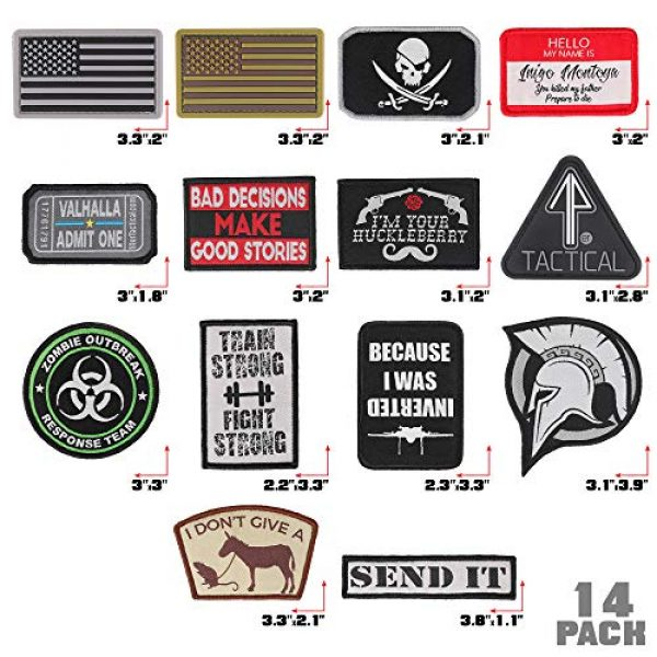 """14er Tactical Airsoft Morale Patch 3 14er Tactical Morale Patches (14-Pack) 