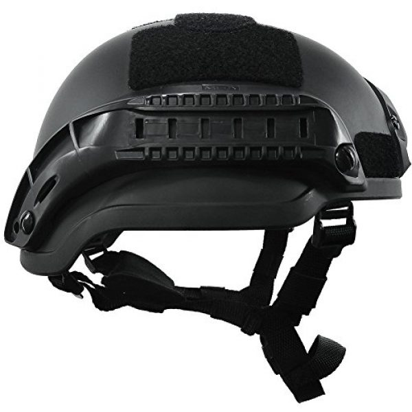 ATAIRSOFT Airsoft Helmet 3 ATAIRSOFT PJ Type Tactical Airsoft Paintball MICH 2002 Helmet with Side Rail & NVG Mount