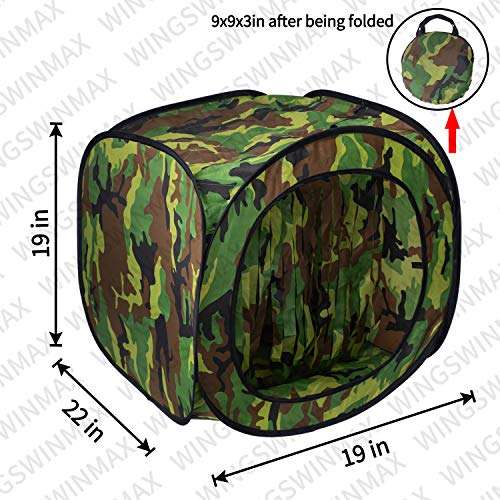 wingswinmax Airsoft Target 2 wingswinmax Foldable Airsoft Target Tent Trap Slingshot BB Trap Net Auto Pop-up Shooting Target Tent BB Target Holder Case