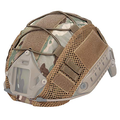 LANZON Airsoft Helmet 2 LANZON Tactical Multicam Helmet Cover for Fast Style Helmets (The Helmet is NOT Included)