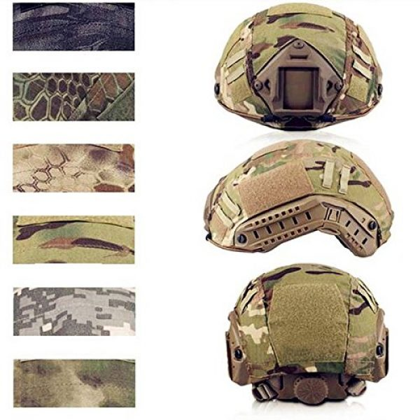 iMeshbean Airsoft Helmet 2 iMeshbean Tactical Series Airsoft Paintball Hunting Shooting Gear Combat Fast Helmet Cover (at)