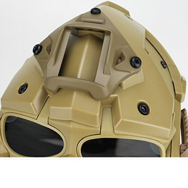 iMeshbean Airsoft Helmet 5 iMeshbean Full Face Protective Mask Tactical Airsoft Helmet with 4 Pairs Visor Goggles for Hunting Paintball Military Cosplay Movie Prop