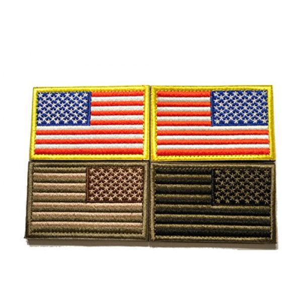 Tekma Sport Airsoft Patch 1 Tekma Sport American Flag Hook and Loop Tactical Patch Combination Pack, Standard and Reverse