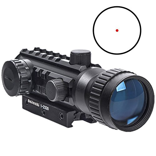 Beileshi Airsoft Gun Sight 1 Beileshi 1X/2X Red Illuminated Tactical Dot Sight