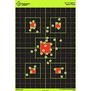 "Splatterburst Targets Airsoft Target 1 12""x18"" Sight in Splatterburst Target - Instantly See Your Shots Burst Bright Florescent Yellow Upon Impact!"