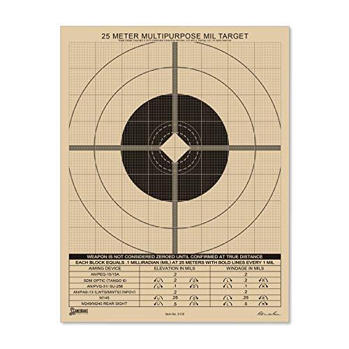 """Rite In The Rain Airsoft Target 2 Rite in the Rain Weatherproof 8.5"""" x 11"""" Multipurpose / Universal / Sniper Tan Targets"""