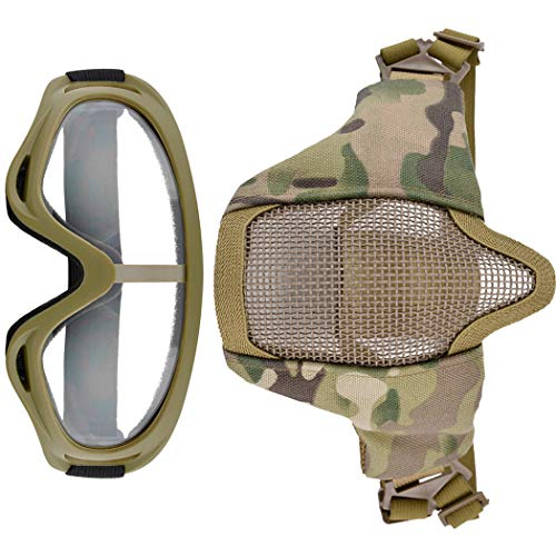 Fansport Airsoft Mask 2 Fansport Airsoft Mask Tactical Goggles Set