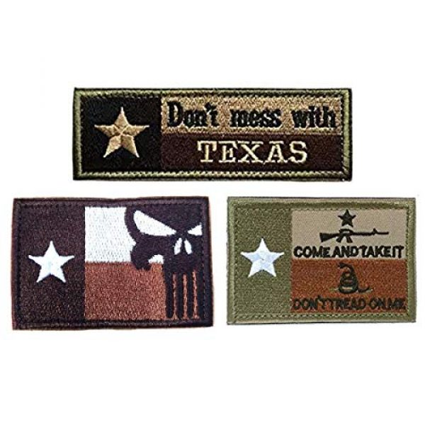 Homiego Airsoft Patch 1 Homiego Texas State Flag Military Tactical Morale Desert Badge Hook & Loop Embroidery Patch for Hat Backpack Jacket (Texas State Flag - B)