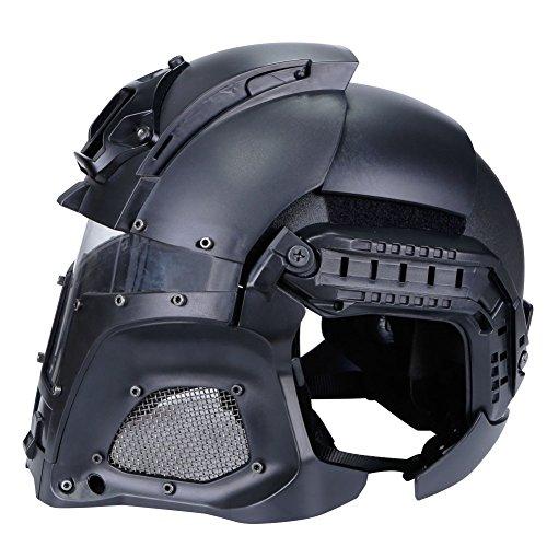 SUNRIS Airsoft Helmet 3 Tactical Military Ballistic Helmet Side Rail NVG Shroud Transfer Base Army Combat Airsoft Paintball Full Face Mask Helmet